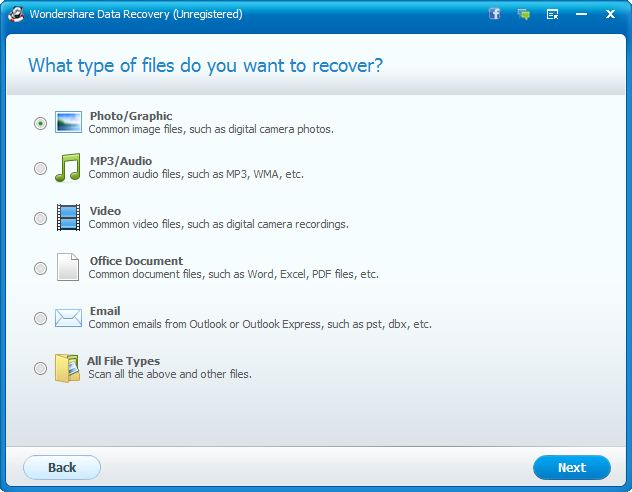 Types of Files to Recover