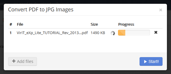 PDF to JPG Conversion in PDF Burger
