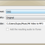 Preferences in 4K Video to Mp3