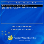Welcome Screen of MiniTool Partition Wizard Bootable CD