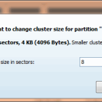 Change Cluster Size - MiniTool Partition Wizard Pro 8