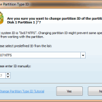 Change Partition Type ID - MiniTool Partition Wizard Pro 8