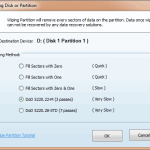 Wipe Disk or Partition - MiniTool Partition Wizard Pro 8