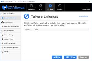 Malwarebytes Anti-Malware Malware Exclusions