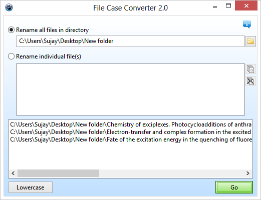 File Case Converter GUI