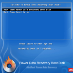 Boot from Boot Disk of Minitool Power Data Recovery Boot Disk