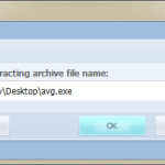 Make Self Etracting Archive in Exeone Archiver 2014