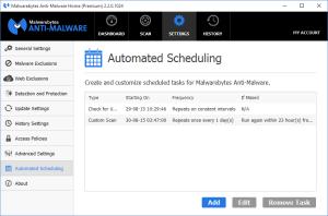 Malwarebytes Anti-Malware - Automated Scheduling