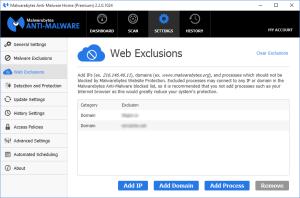 Malwarebytes Anti-Malware Web Exclusions