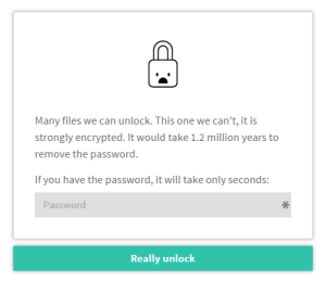 Unlock PDF - Password needed